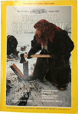 PRE-OWNED National Geographic March 1990 Geo Magazine CK309