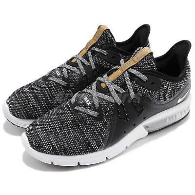 separation shoes 76e30 1e355 Wmns Nike Air Max Sequent 3 III Black Grey Women Running Shoe Sneaker  908993-011