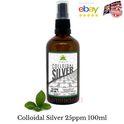 Colloidal Silver 25 ppm 100ml Spray Bottle BioNature Premium Quality