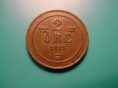 Sweden 1885 2-Ore In Excellent Condition