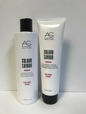 AG Hair Colour Savour Shampoo 10oz & Color Protection Conditioner 6oz DUO