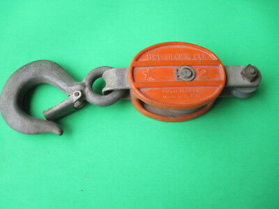 Vintage B & L Block Co. No.2 Lineman's Block & Tackle Pulley Only Made In USA