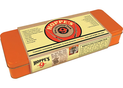 HOPPES HOLIDAY CLEANING TIN #9 Cleaner and Oil    12-ga., 9mm, .22-cal., .40/.45