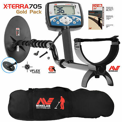Minelab X-Terra 705 Gold Pack Metal Detector with Padded Metal Detector Bag