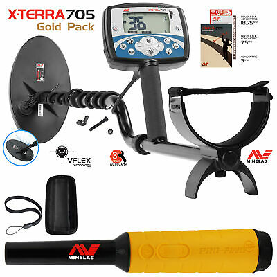 Minelab X-Terra 705 Gold Pack Metal Detector with Pro Find 35 Pinpointer