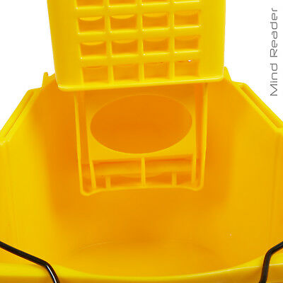 Mop Wringer Bucket Trolley Yellow Mind Reader 36 Liter Heavy Duty 4 Gray caster