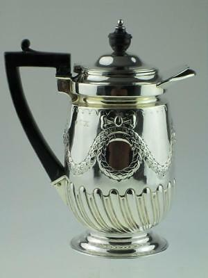 Large Antique Solid Silver Water Jug Teapot 1899 London