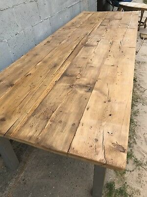 3.1m Long, French Antique Table, Kitchen Island, Vintage, Rustic, X6 Legs