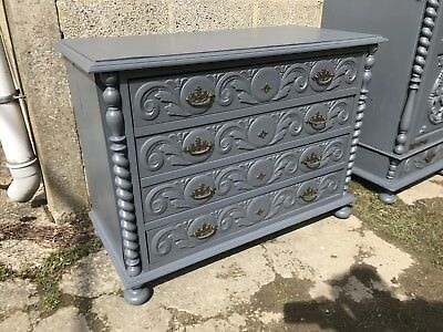 Beautiful Antique French Chest Of Drawers, Vintage, Painted