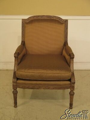 43509: HIGHLAND HOUSE French Louis XV Style Upholstered Arm Chair