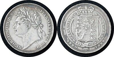 GREAT BRITAIN UK 1824 GEORGE IV Silver Shilling KM #687 -PMM