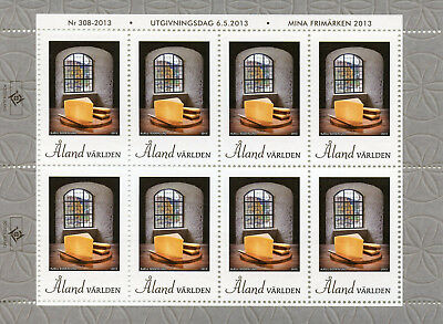 Aland 2013 MNH Cheese with History 8v M/S Cheeses Gastronomy Cultures Stamps