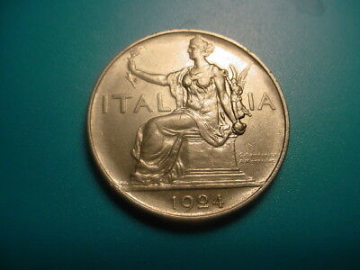 Italy 1924 1-Lire In Excellent Condition