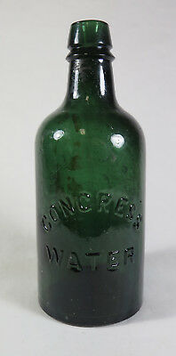 Congress & Empire Spring Co. Saratoga, NY Congress Mineral Water Green Bottle