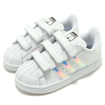 56c00db1476a adidas Originals Superstar CF I Iridescent Hologram TD Toddler Infant AQ6280