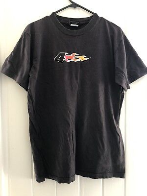 Fox Vintage T-shirt Flames Black M Medium