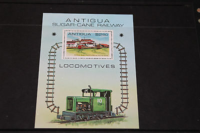 Antigua 1981 Trains/locomotives M/sheet   Very Fine M/n/h