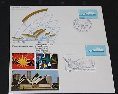 AUSTRALIA 1973 7c OPERA HOUSE ON 2 A/P FIRST DAY COVER UNADDRESSED NO.2