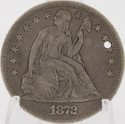 1872 P Seated Liberty $1 Silver Philadelphia U.S. United States One Dollar Coin