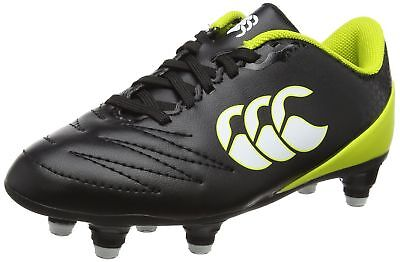 Canterbury Boys' Stampede 2.0 Soft Ground E22405 Rugby Boots Black/True Red