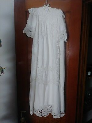 vintage baby dress or Christening gown, white eyelet lace 2 toddler