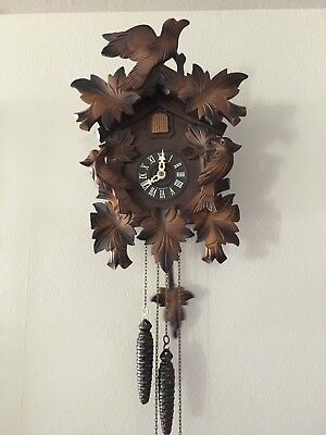 Vintage W. Germany Cuckoo Clock For Repair Or Parts / Regula