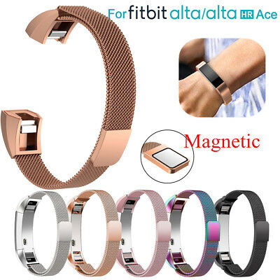 Stainless Steel Magnetic Milanese Replacement Band Strap For Fitbit Alta HR ACE