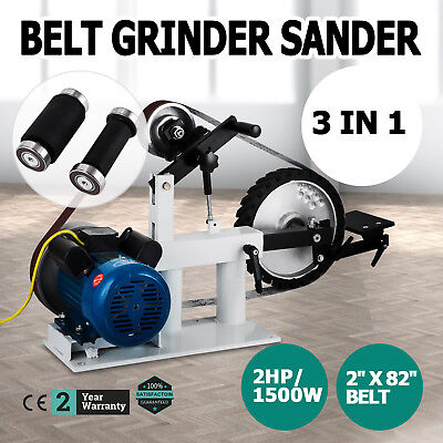 """Belt Grinder Sander 2"""" x 82"""" Complete Chassis with 1500W Motor + Attachment"""