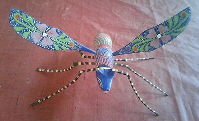 DRAGONFLY Alebrije Hand Crafted Oaxacan Wood Carving  Oaxaca Mexico