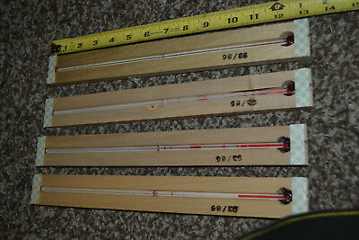 "3 Glass Replacement Thermometer Wood Cradles For 12"" Advertising Thermometers"