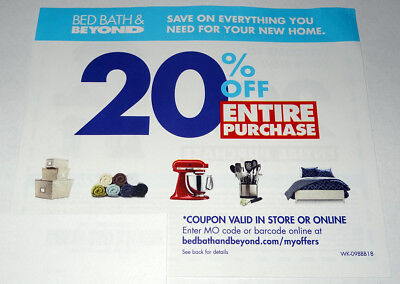 Bed Bath Beyond 20 Off Your Entire Purchase Coupon Expires