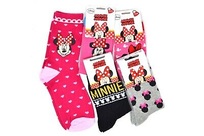 Lot de 6,12 paires de chaussettes Enfant Minnie Mouse couleurs assorties !!!