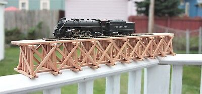 """HO handmade (USA)  solid cherry trestle 22 3/8"""" long  3 1/4"""" high unfinished."""