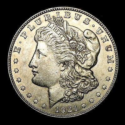 1921 S ~**ABOUT UNCIRCULATED AU**~ Silver Morgan Dollar Rare US Old Coin! #H60