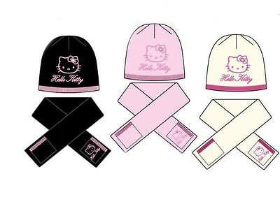 aafc656afda Ensemble Enfant Hiver Bonnet Chaud Echarpe HELLO KITTY Set de 2 Pcs H11F4048