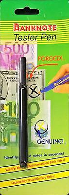 Tester Pen Fake Forged Banknote Checker Pen Counterfeit Marker Silver Faux