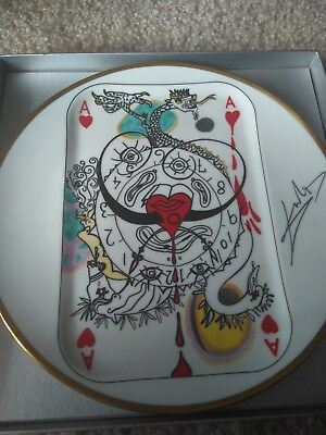 Salvador Dali Flush Royal & Flush Collector Plates Hand Numbered Limited Edition