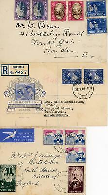 South Africa Three Used Covers/FDC's Sold as Seen