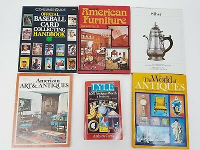Lot of (6) Antiques & Collectibles Guides Baseball Cards Furniture Art