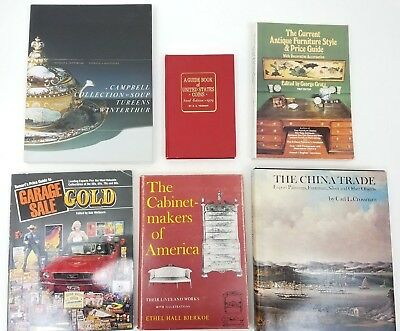 Lot of (6) Antiques & Collectibles Book Guides Coins, China, Cabinets, Furniture