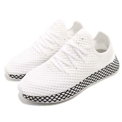 detailed look c47c9 8b02d adidas Originals Deerupt Runner White Black Men Running Shoes Sneakers  B41767