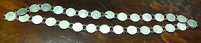 Vintage Silver 1881-1908  Random Dates Canadian 5 Cent 31 Coin Grandma Necklace