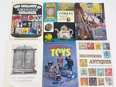 Lot of (6) Antiques & Collectibles Book Guides: Toys, Furniture, Catalogs...