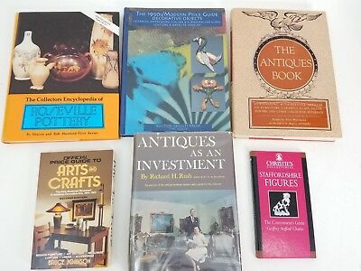 Lot of (6) Antiques & Collectibles Book Guides: Pottery, Figurines, 50s Deco