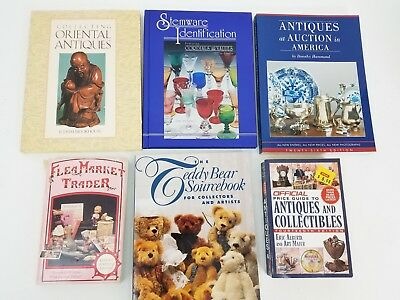 Lot of (6) Antiques & Collectibles Book Guides: Teddy Bears, Stemware, Oriental