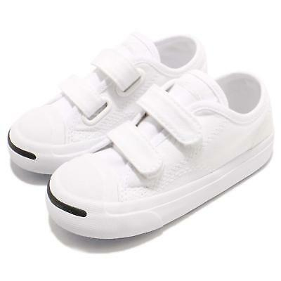 a115a90a931 Converse Jack Purcell 2V TD White Canvas Toddler Infant Shoes Sneakers  761308C