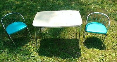 1950s Vintage Kids Table And Chairs