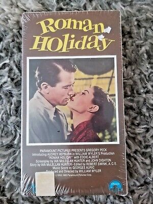 NEW Roman Holiday VHS New Sealed Movie Gregory Peck, Audrey Hepburn