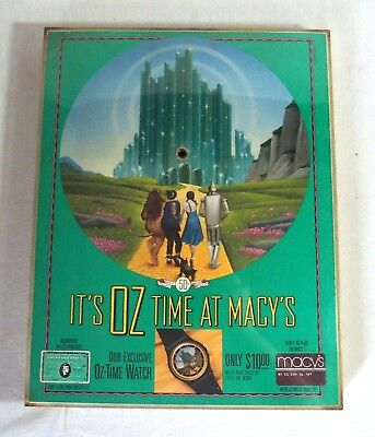 Macy's The Wizard of OZ Store Promotional Clock for Wrist Watches for Repair