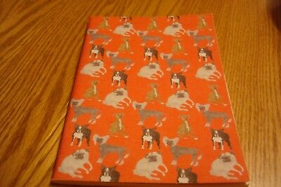 New Anthropologie Lined Journal Dog Print Red
